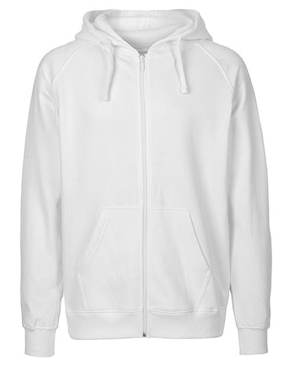 Zip-Hoodie Organic 100% Bio-Baumwolle Man - White