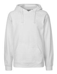 Hoodie Organic 100% Bio-Baumwolle Man - White