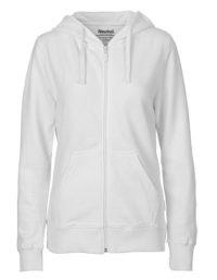 Zip-Hoodie Organic 100% Bio-Baumwolle Woman - White