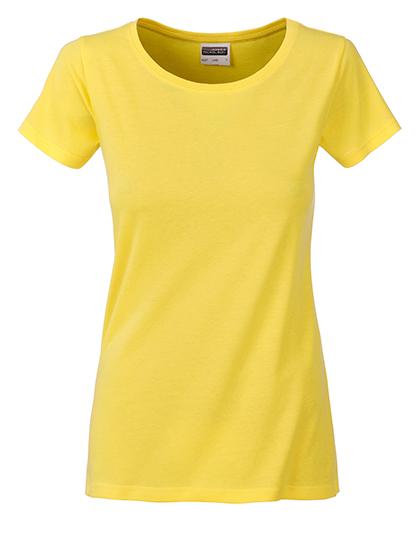 Basic T Organic 100% Bio-Baumwolle Woman - Yellow