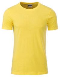 Basic T Organic 100% Bio-Baumwolle Man - Yellow