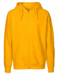 Zip-Hoodie Organic 100% Bio-Baumwolle Man - Yellow