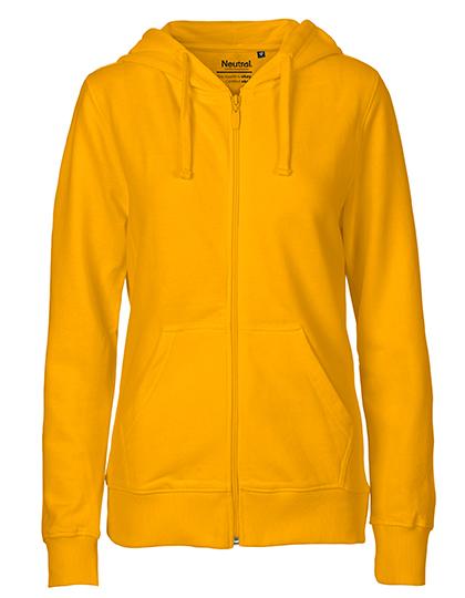 Zip-Hoodie Organic 100% Bio-Baumwolle Woman - Yellow