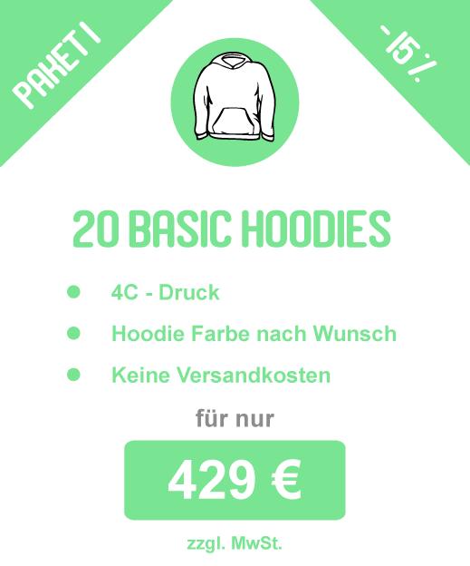 Sparpaket: 20 Basic T-Shirts inkl. Druck für 199 €